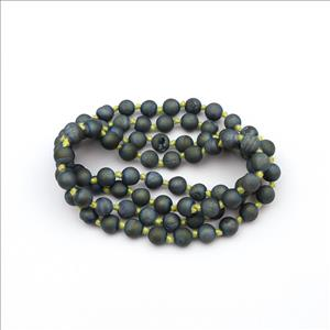 Multi Color Jade & Druzy Gemstone Beaded Necklace for Men Women Knotted Necklace Wholesale Jewelry (B8N-05)