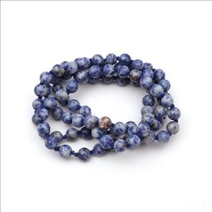 Jade & Sodalite Gemstone Beaded Necklace for Men Women Knotted Necklace Wholesale Gemstone Jewelry (B8N-25)