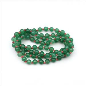 Multi Color Jade Gemstone Beaded Necklace for Men Women Knotted Necklace Wholesale Jewelry (B8N-01)
